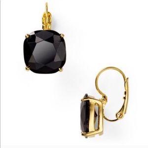 Kate Spade New York Square Drop Earrings Black NEW